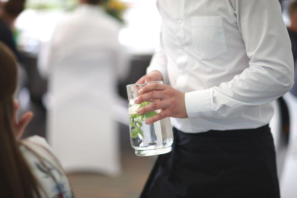 Water drinken in restaurant