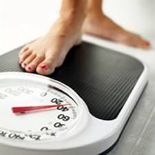 Weegschaal en gewichtsverlies