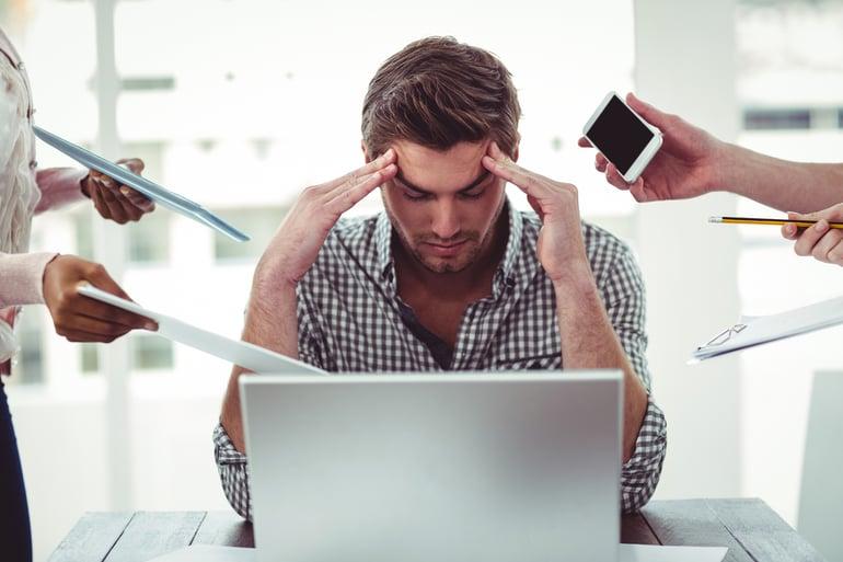 afvallen stress