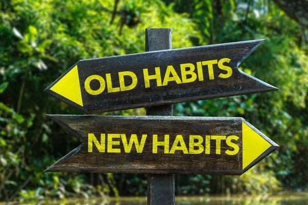 Nieuwe gewoon te vervangen oude gewoonten in dit plan