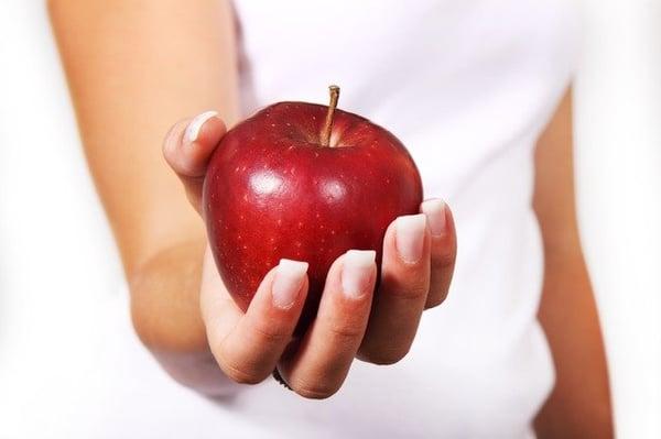 gezonde voeding met appel