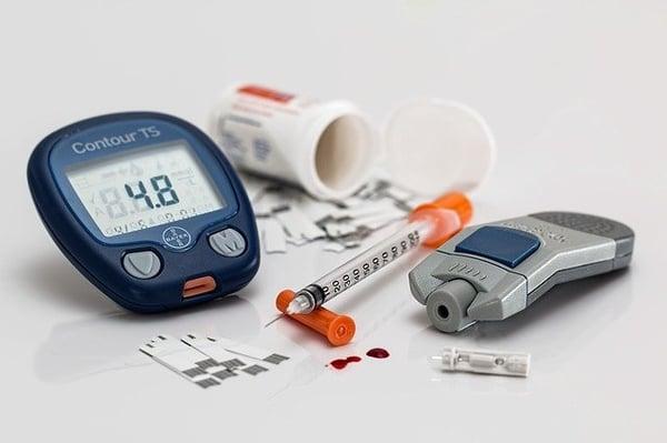 een van de risico's van obesitas is diabetes