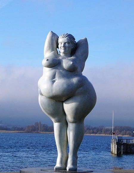 mooi beeld van dikke vrouw