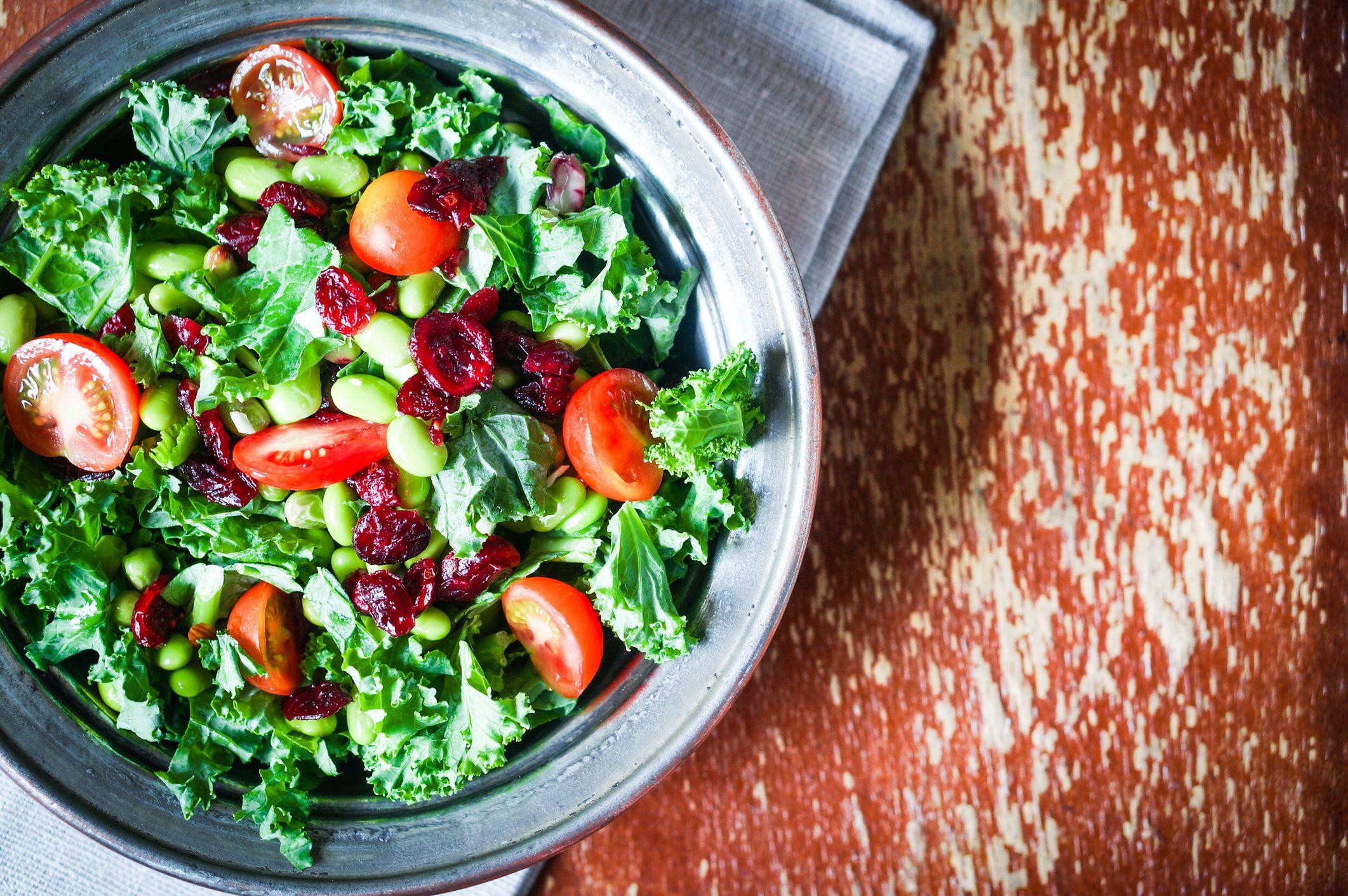 Salade met edamame boontjes