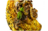 spinazie champignons omelet