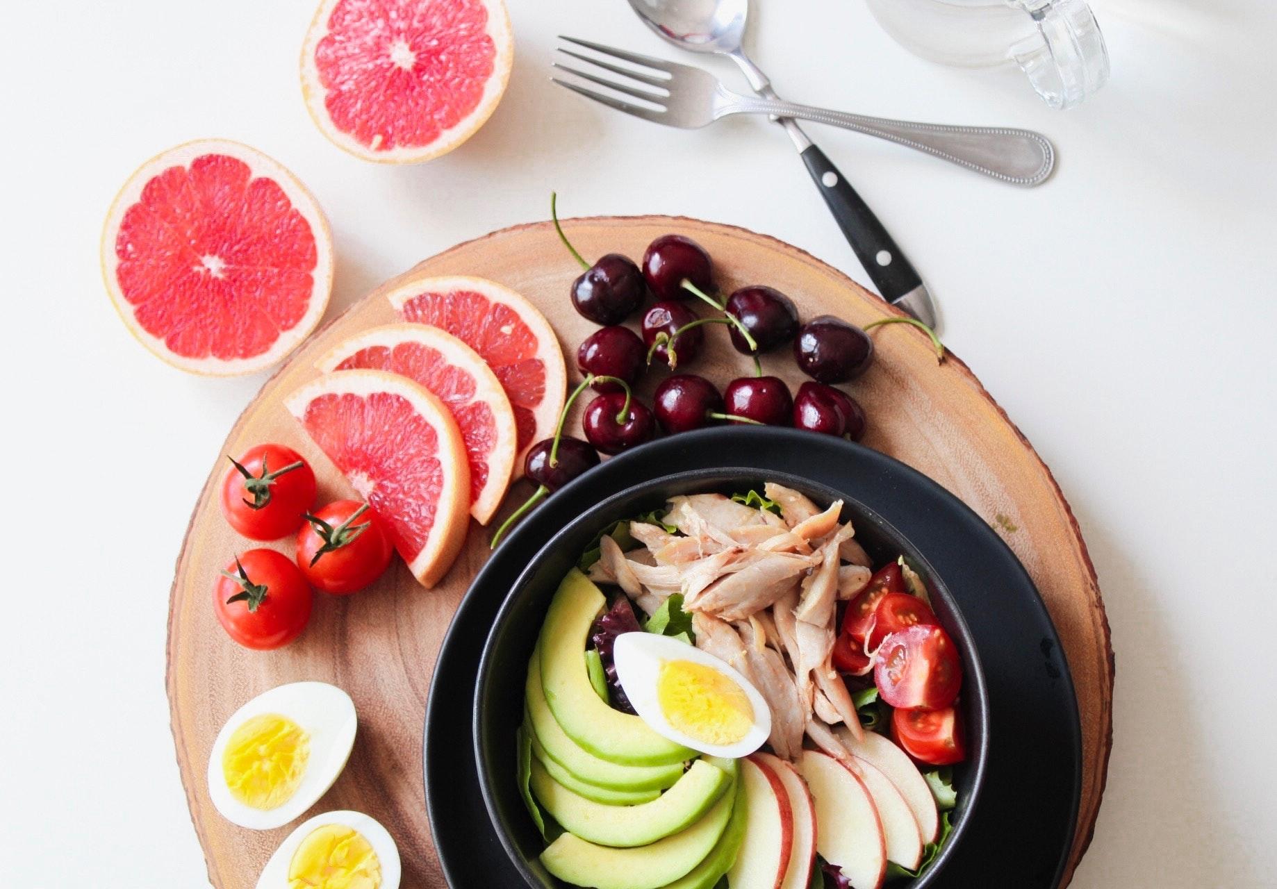 verschillende soorten fruit en groente