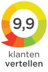 9,9 op 10 van klantenvertellen.nl