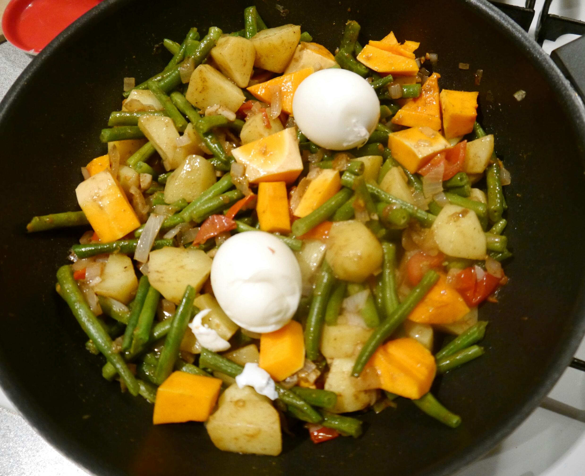aardappel en sperzieboon